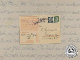 A 1942 Postcard Sent from POW at Buchenwald