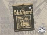 A 1938 German Propaganda Magazine Der Schulungsbrief; Never again Versailles!