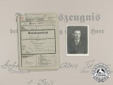 A Military Record Book of Gefreiter Fanger; Invasion of France