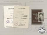 A 1944 Assault Badge & Wound Badge Award Group to Grenadier Regiment 436