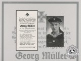 An Obituary Notice for Georg Müller of U-654; Sunk by an American B 18