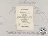 A 1944 Wound Badge Award Document to Grenadier Regiment 15