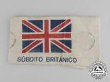 "A Rare Spanish Civil War ""British Subject"" Armband for an Embassy Employee"