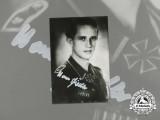 A Post-War Signed Photo of KC Recipient Hans Fiedler