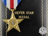 A Second War American Silver Star in Case of Issue; Numbered
