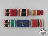 A Grouping of Six Second War German Medal Ribbon Bars