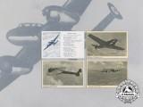 Four Wartime Luftwaffe Aircraft Postcards