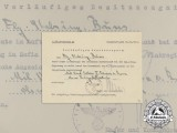 A Bulgarian Military Merit Order 5th Class Preliminary Document to Flieger Bruns