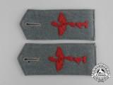 A Pair of First War Prussian Flyer Reserve Division Nr. 1 Shoulder Straps