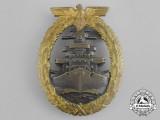 A Fine Early Quality  Kriegsmarine High Seas Fleet Badge by Schwerin of Berlin