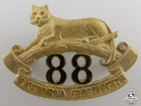 An 88th Victoria Fusiliers Officer's Collar Badge