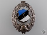 An Estonian Firemans Badge for 10 Years Service