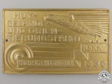 An NSKK Saxon Motor Group Automobile Plaque 1939
