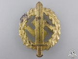 An SA Defense Badge; Gold Grade by W.Redo