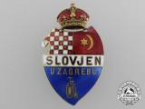 A 1900 Croatian Bycicle Club Slovjen, Zagreb; by Belada, Wien