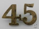 A Fenian Raid Period 45th West Durham Battalion of Infantry Collar Badge