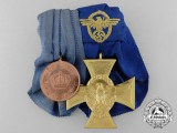 A Prussian & Police Long Service Medal Bar