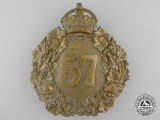 A 57th Regiment Peterborough Rangers Helmet Plate, c. 1904-1920