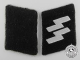 A Waffen-SS Pair of Collar Tabs for an SS Officer