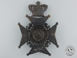 A Victorian 37th Haldimand Battalion of Rifles Helmet Plate, c.1880