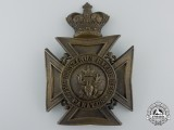 A Victorian Hastings Battalion of Rifles Helmet Plate