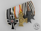 An Unusual Imperial Austrian Medal Bar; Marian Cross of the German Knight Order 1st Class