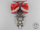 A Serbian Order of the White Eagle; 3rd Class Commander's Cross with Swords