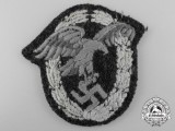 A Luftwaffe Observer's Badge; Cloth Padded Version