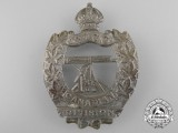 A First War Canadian 3rd Machine Gun Company; 1st Canadian Division Cap Badge