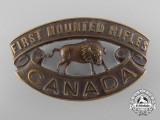 A First War 1st Canadian Mounted Rifle Battalion Shoulder Title