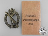An Infantry Badge Bronze Grade by Josef Feix & Sohn in Pocket of Issue