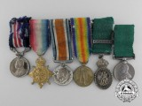 A First War Canadian Military Medal & Auxiliary Forces Officers' Decoration Miniature Group