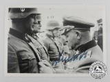 "A Second War Period Signed Photo of Josef ""Sepp"" Dietrich"