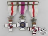 A Spanish Order of Military Merit & St. Hermenegildo Medal Bar