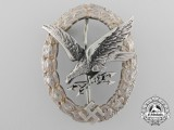 A Luftwaffe Radio Operator & Air Gunner Badge to Uffz. Deiss. 4. St Erfurt KIA