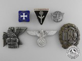 Six Second War German Badges and Awards