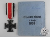 An Iron Cross 2nd Class 1939 with Packet by Julius Maurer Oberstein