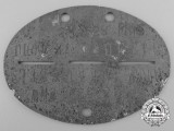 A Second World War Identification Tag; Turkistan