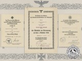 A Group of Kriegsmarine Award Documents to W. Striewski; Destroyer Paul Jacobi