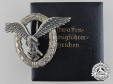 A Luftwaffe Pilot's Badge by Assmann with Case