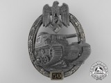 A Panzer Badge-Grade III (50); Unmarked Juncker