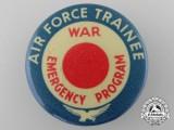 A Scarce Air Force Trainer; War Emergency Program Badge