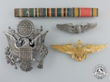 Three Second War American Air Force Items & Ribbon Bar