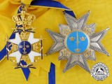 A Swedish Order of the Sword in Gold by C.F. Carlman of Stockholm
