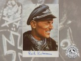 "A Luftwaffe Fighter Ace Erich ""Bubi"" Hartmann Signed Colour Photograph"