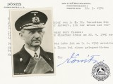 A Postcard & Signed Letter from Grossadmiral Karl Dönitz to Author John R. Angolia