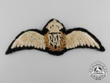 A Second War Royal Air Force (RAF) Pilot's Wing