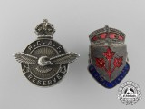 Two Second War Canadian Badges