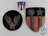 A Set of Second War American USAAF China-Burma-India Theatre Insignia