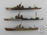 Three Second War Italian Surface Ships Badges